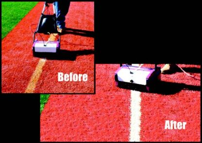 Removal and cleaning of dirty lines on synthetic turf